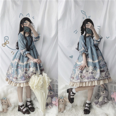 taobao agent Summer original genuine Japanese soft sister Lolita lolita princess dress short sleeve op dress female daily student