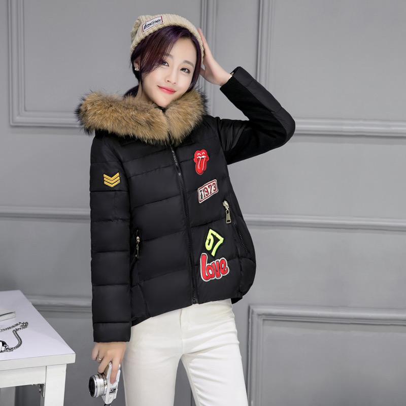 短款羽绒棉服毛领棉袄加厚冬装休闲外套