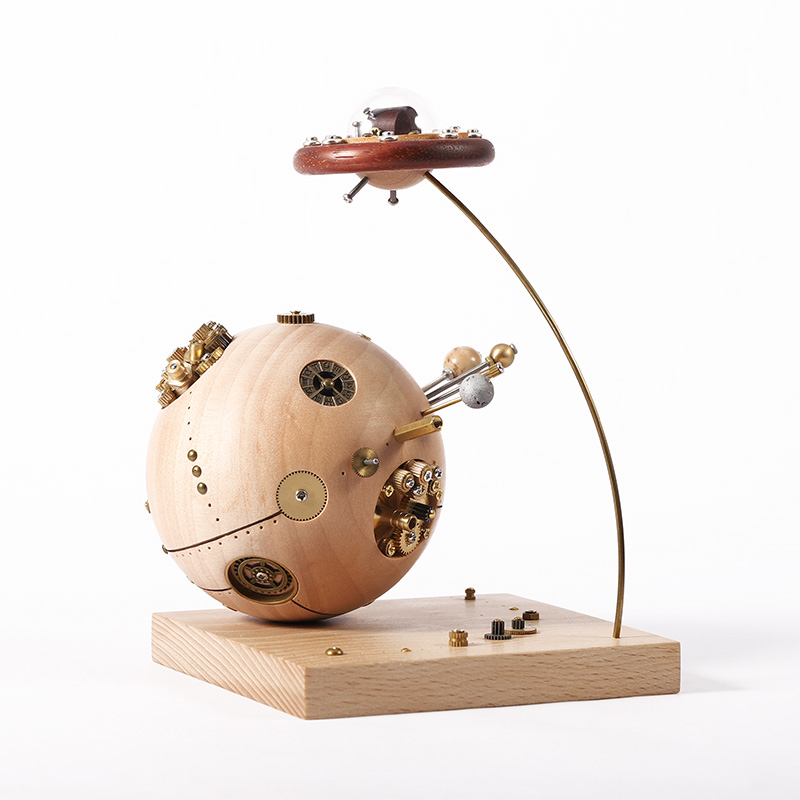 创木工房宇宙星球摆件,送朋友小魔王创意礼物