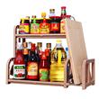 2/多层厨房用品用具调味料置物架不锈钢调料收纳免打孔省空间落地