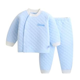 婴儿保暖衣套装夹棉0-1-3岁新生儿内衣
