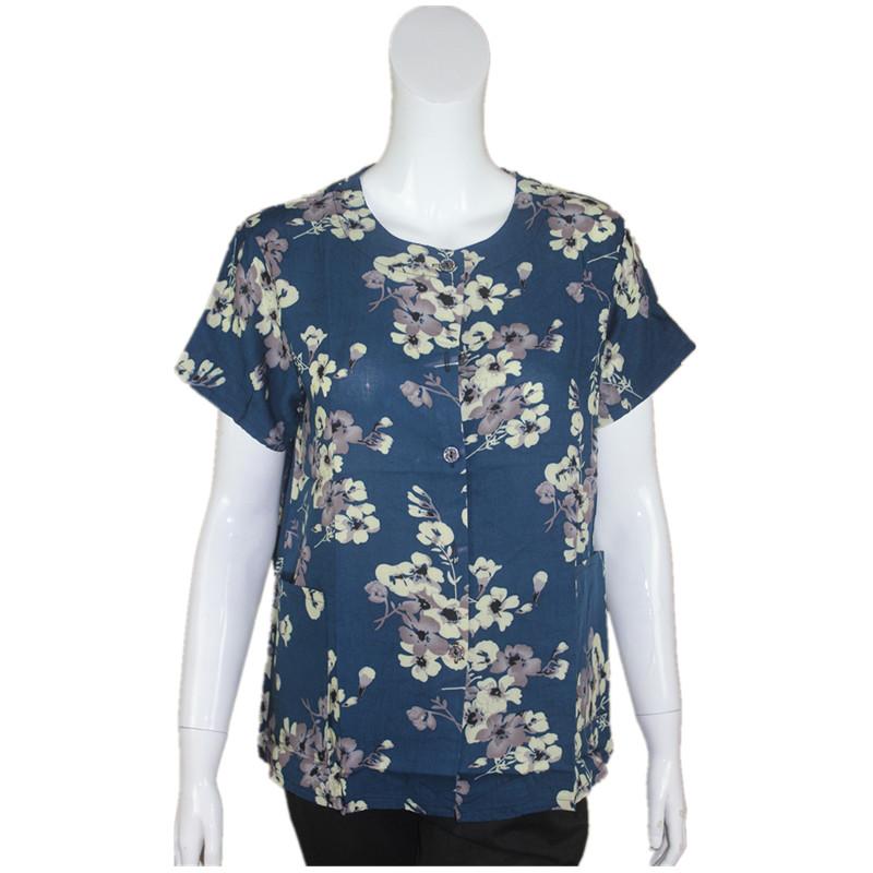 Đặc biệt hàng ngày trung niên bông ngắn tay t- shirt kích thước lớn bà nạp rayon áo sơ mi phụ nữ bông cardigan