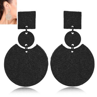 欧美饰品时尚新潮个性夸张几何圆盘大耳环凹造型原宿风耳饰耳环
