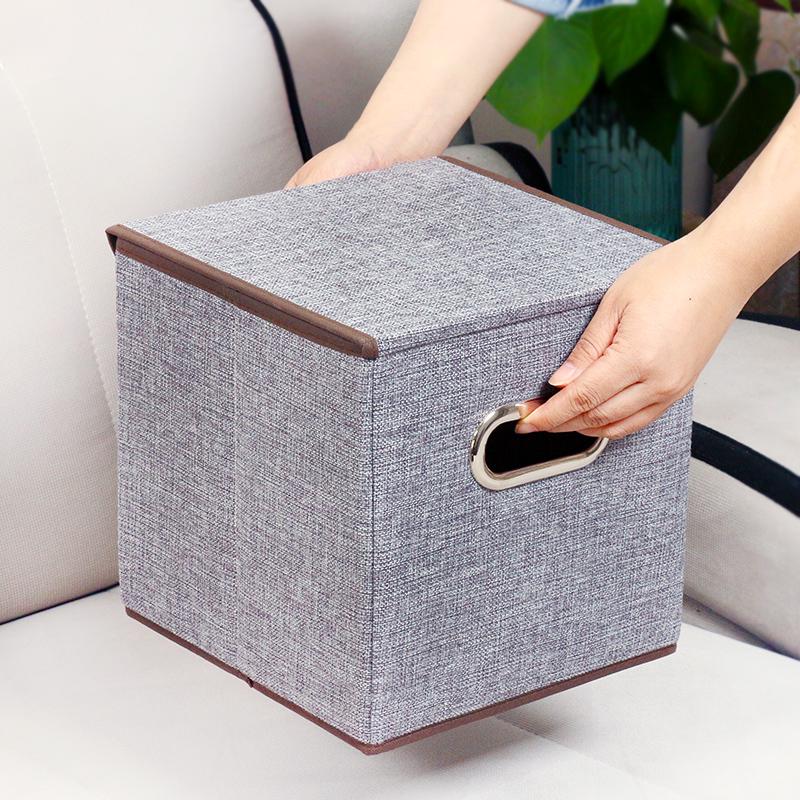 家用麻纹整理箱收纳箱衣物棉被大号衣柜储物箱搬家神器加厚特大号