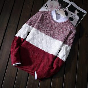 秋冬季圆领打底卫衣针织衫毛衣