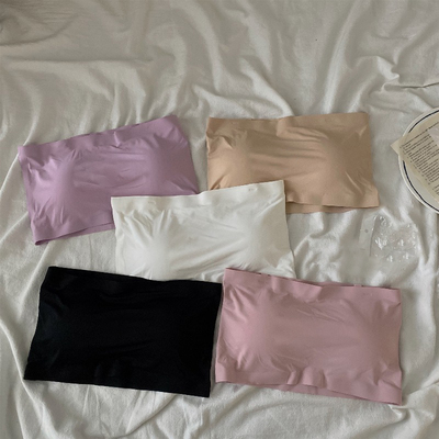 taobao agent 2021 new summer tube top, anti-failure, no shoulder strap, wrapped chest, ice silk underwear, female beauty back, no steel ring bra