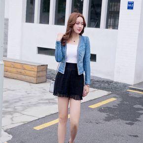 2017年春夏季LGG清仓女装百搭牛仔外套