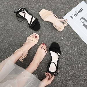 百搭一字扣仙女风罗马鞋