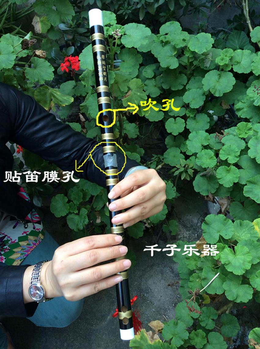曲笛梆笛学生笛江南877竹笛 一节刻诗笛竹笛多配置可选