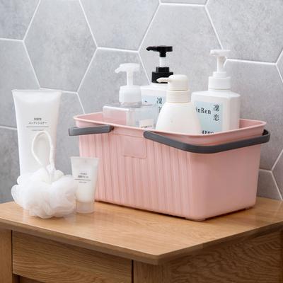 日式手提洗澡篮浴室塑料收纳篮收纳盒沐浴收纳筐洗澡筐浴筐小篮子