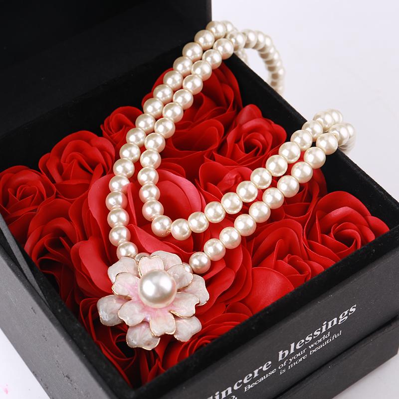 项链女短款韩国时尚多层小香风珍珠锁骨链颈带清新可爱气质装饰链