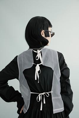 AnnoMundi原创设计仙女网纱外搭背心刺绣宽松上衣短款马甲百搭女