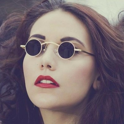 taobao agent European and American personality small round frame sunglasses punk prince mirror retro sunglasses hipster sunglasses ultra small glasses frame