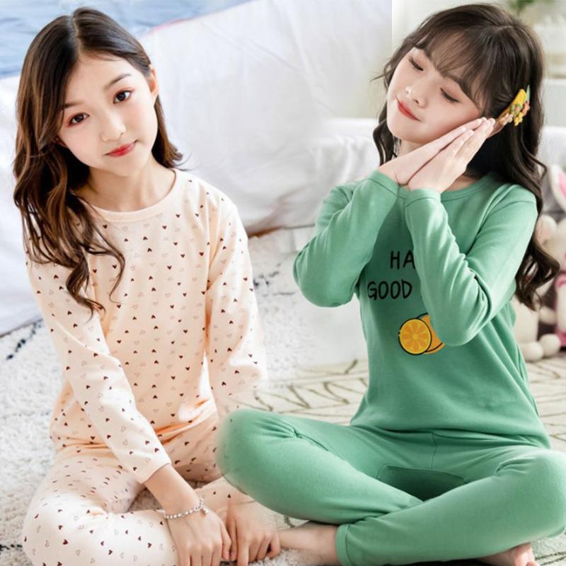 女童睡衣保暖秋衣全棉套装