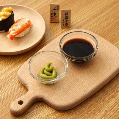 创意透明玻璃调味碟家用餐具料理碟酱油调料小吃碟小碟子日式菜碟