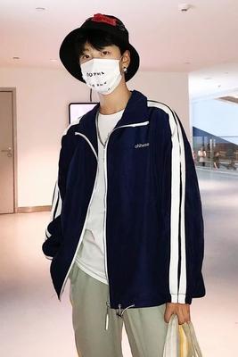Hàn quốc phiên bản của áo khoác nam mùa xuân và mùa thu xu hướng lỏng đẹp trai hoang dã áo khoác áo khoác sinh viên đồng phục bóng chày quần áo hip hop tide thương hiệu Đồng phục bóng chày