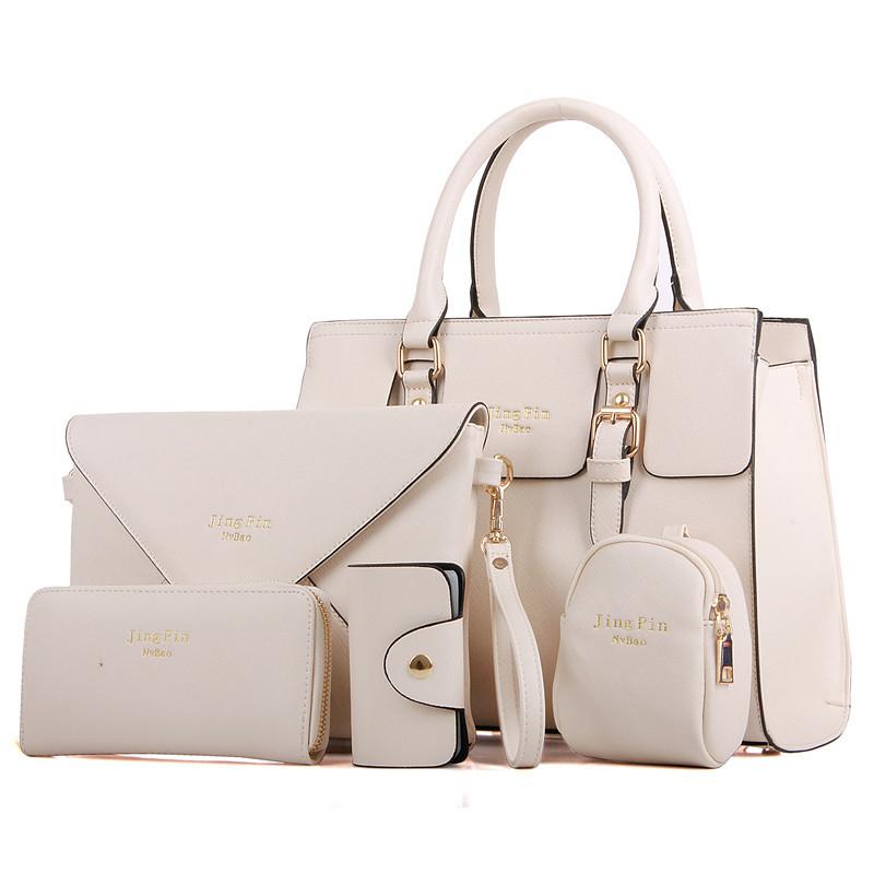 高档真皮五件套子母包女包新款欧美时尚品牌女士包潮流简洁大气美(优惠价300元卖出129件)