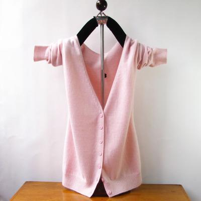 Đan áo len nữ V-cổ áo 2018 đầu mùa xuân và mùa thu mới tóc dệt kim ngắn cardigan áo len cardigan