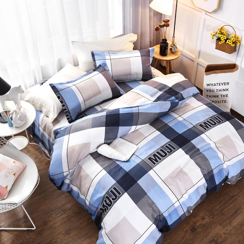 公主床上四件套全棉纯棉1.8m床单双人被套4学生宿舍三件套床品