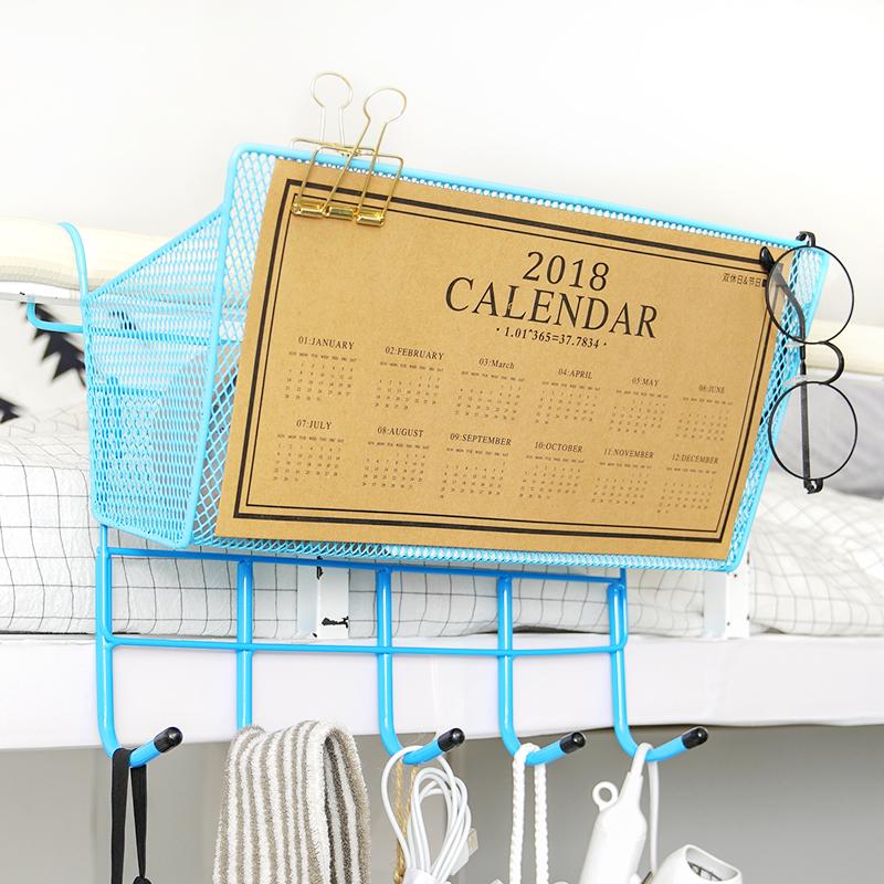 大学生寝室床头置物架 宿舍收纳篮筐 上铺床边储物篮子 上铺神器