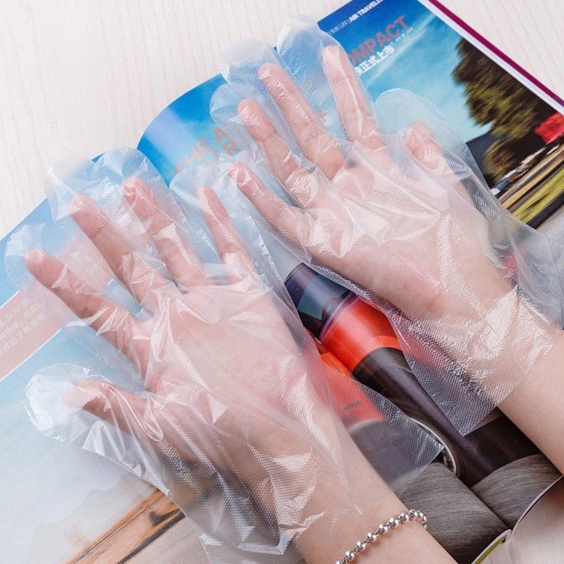 一次性手套薄膜加厚龙虾餐饮美发透明厨房家用防水