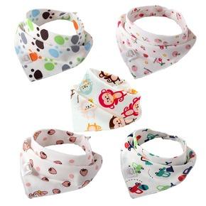 天天特价5条装婴儿三角巾宝宝口水巾新生儿纯棉围嘴吸水围兜透气