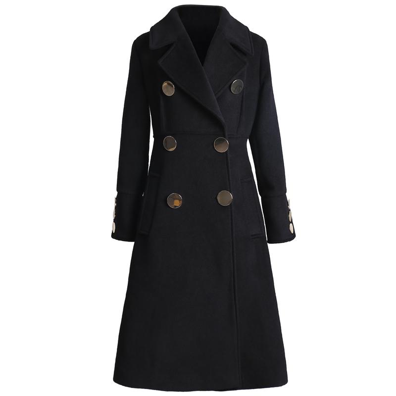 2017 mùa đông mới của phụ nữ Hàn Quốc eo là áo len mỏng của phụ nữ tính khí dài áo len màu đen