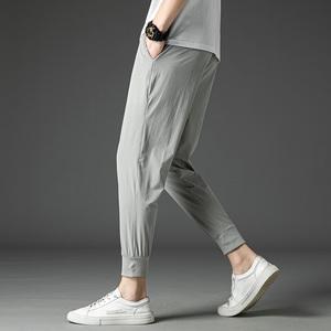 祖玛珑夏季薄款裤子男韩版潮流2020九分裤宽松ins休闲长裤男裤