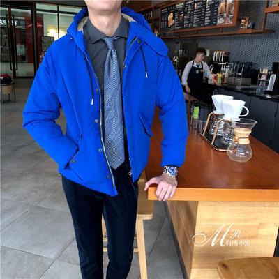 韩国冬季加厚连帽羽绒外套修身百搭男潮流羽绒服保暖帅气加厚外套