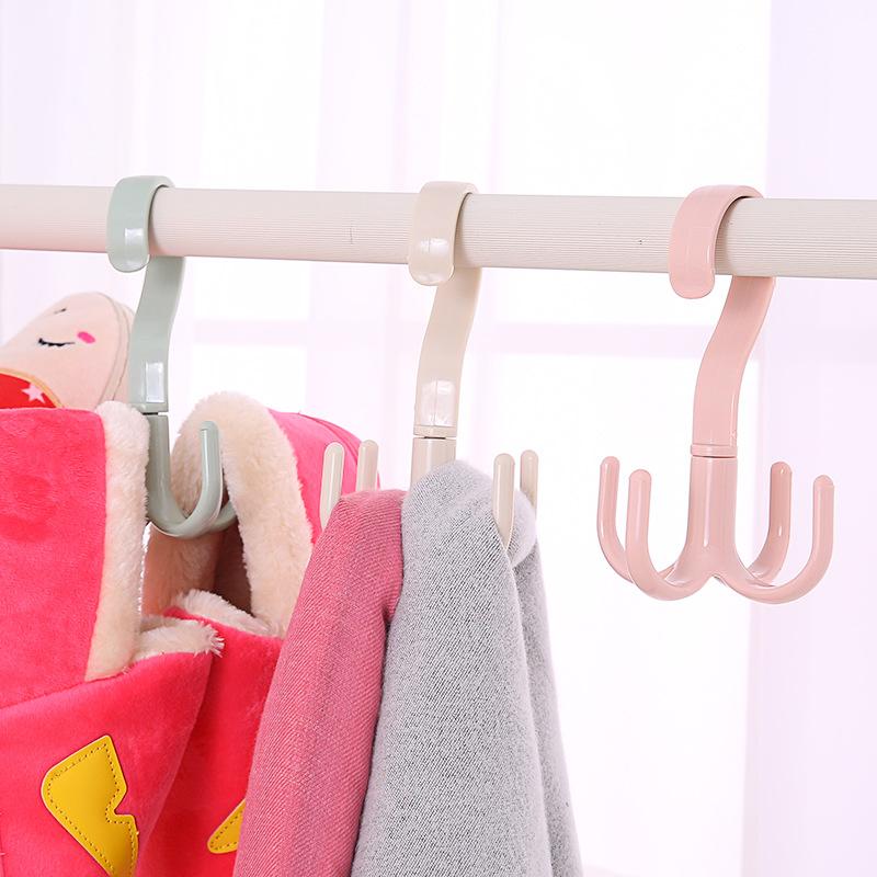 家居衣柜围巾衣架皮带包包收纳架子 塑料衣服挂架挂钩挂衣架