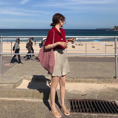BIGKING大金家 超好穿清凉一夏的百搭平底麻绳编织凉鞋女沙滩凉拖