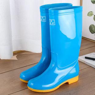 中筒加絨雨鞋雨靴防水鞋膠鞋套
