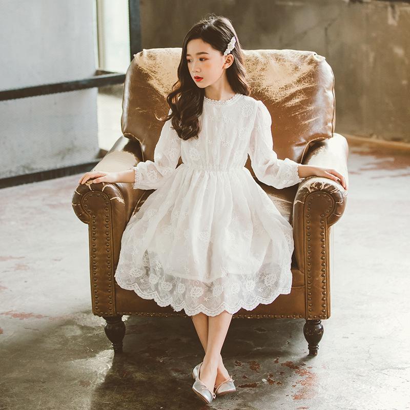 Váy nữ mùa xuân 2020 mới dài tay Hàn Quốc - Váy