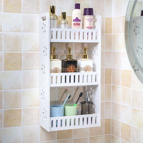 免打孔卫生间浴室洗漱墙上壁挂化妆品无痕收纳架厕所洗手间置物架