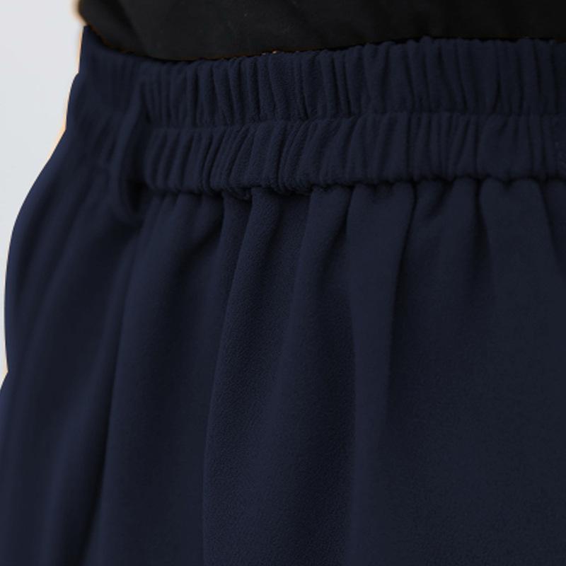 2018 mới lớn kích thước của phụ nữ vest vest chất béo mm mỏng phù hợp với 200 pound chất béo chị quần chân rộng hai bộ Áo vest