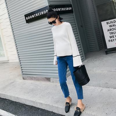 孕妇牛仔裤春季新款 潮妈九分裤 怀孕期外穿孕妇托腹裤春装