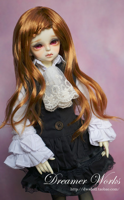 taobao agent BJD/SD 4 points 3 points doll clothes British noble style black and white dress 1/4, 1/3, big girl