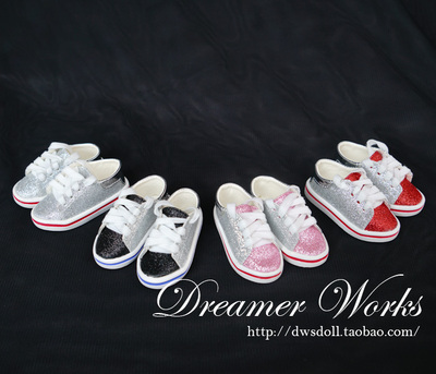 taobao agent BJD/SD 3 points doll shoes, women's flat casual shoes, sports shoes, leather shoes, 4 colors 1/3