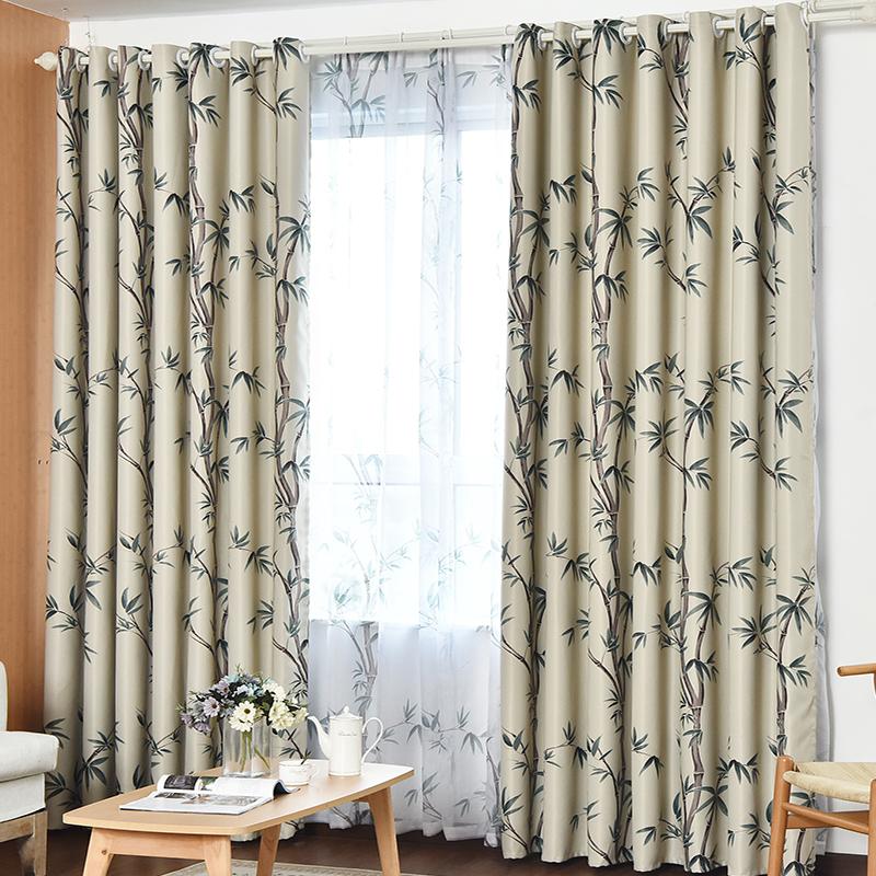 窗帘布成品全遮光 现代简约阳台飘窗卧室客厅窗帘遮阳 特价清仓