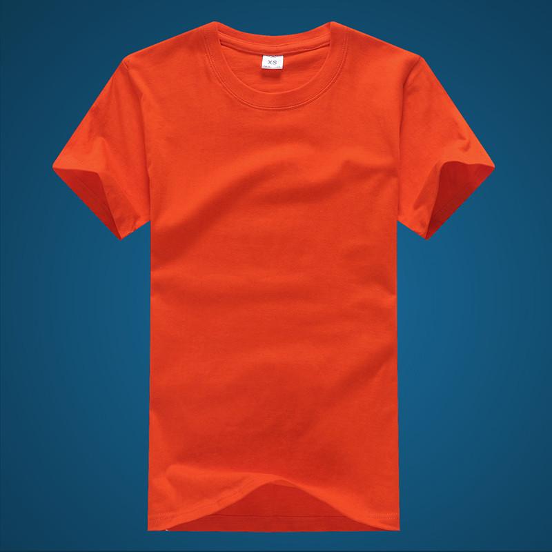 Cá nhân hoá tùy chỉnh vòng cổ ngắn tay cotton mùa hè t-shirt màu rắn lỏng đáy áo nửa tay thể thao áo sơ mi nam quần áo