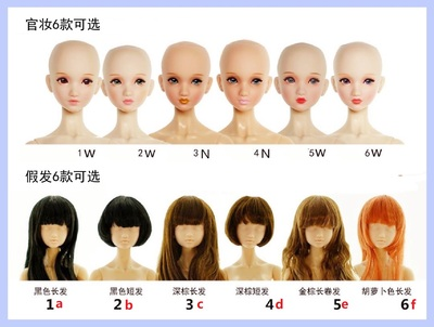 taobao agent 【BEDOLL】Optional Group Baby 1/6 Whole Baby Original Body/Peach Body Rubber/Female Soldier/Doll