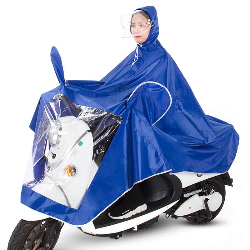 【雨衣】新款提花布电动车雨披单双人