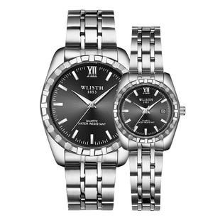 手表男 情侣玫瑰金手表钢带防水男士学生手表