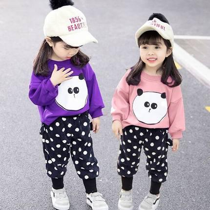 秋季女宝宝休闲两件套装0一4岁