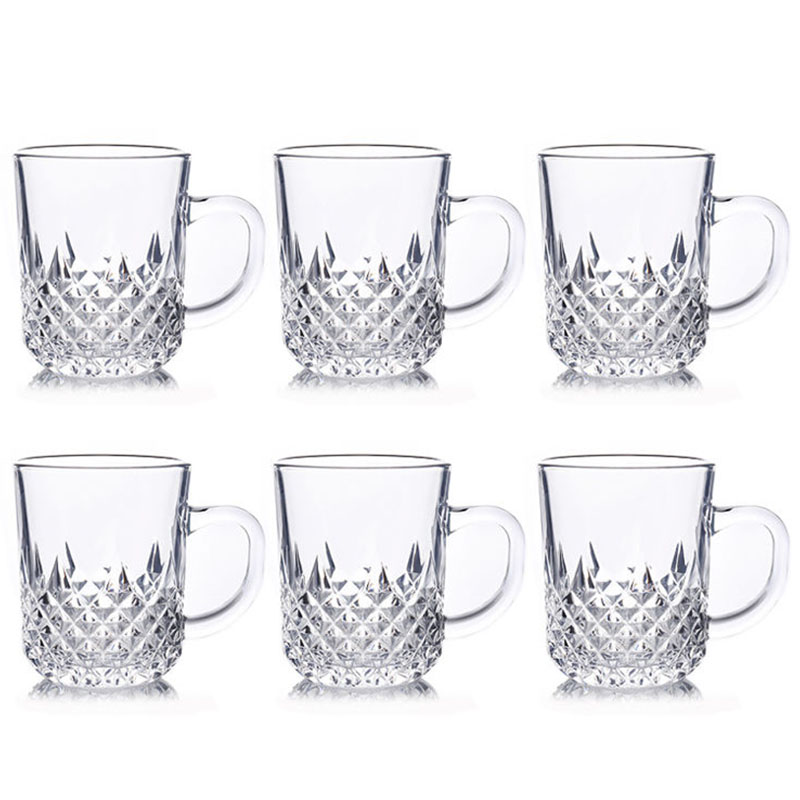玻璃杯子套装无铅水杯啤酒杯