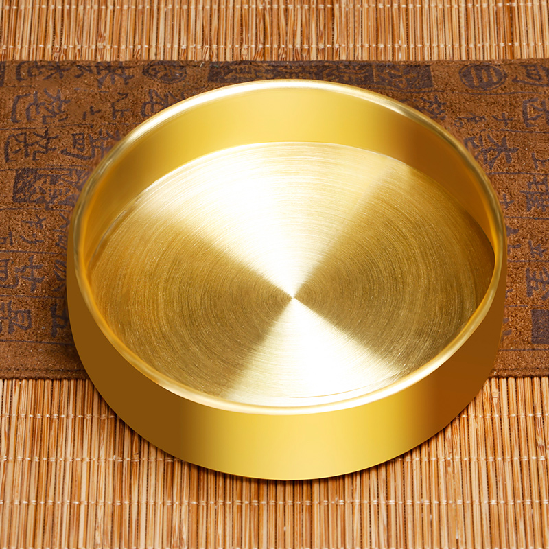 silver leonel disc s99 silver plating 24 k gold surface single plate Tibetan tantra supplies for the repair man tea compass 10 cm