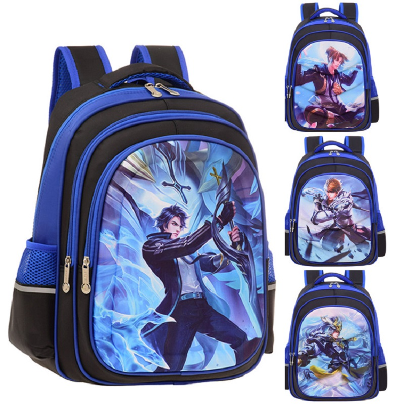 王者荣誉网红书包1-6小学生男女孩儿童双肩背包减负护脊防水书包