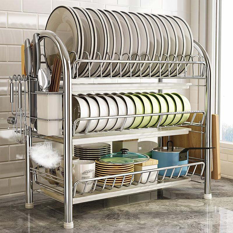 沥水碗架刀架厨房置物架收纳架落地储物架碗