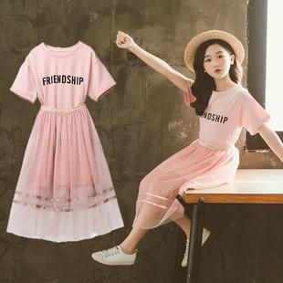 儿童装洋气套装裙夏季韩版裙子大童公主裙