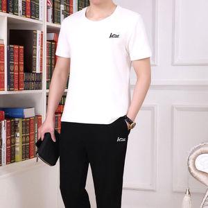 中青年运动装男士夏装上衣/套装休闲时尚潮流T恤长裤大码爸爸装